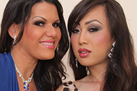 Angelina castro and venus lux  watch what happens after angelina gets  her first taste of tranny cock. Watch what happens after Angelina gets  her first taste of shemale cock!